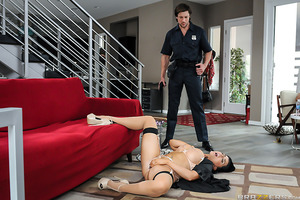 A husband returns home and finds his adoring wife (Romi Rain) covered in cum and masturbating in the middle of a trashed living room. What Ms. Rain's husband doesn't know, or can't seem to understand, is that she's a filthy slut who loves to fuck! Can he