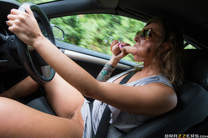 Cock-loving MILF Ava Austen is taking a cross-country road trip in search of big dicks to put inside her body. During her drive she happens to come across hitchhiker Jordi. After sussing out that her shy passenger is equipped with an impressive package, A