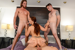 Syren De Mer is a doting housewife who does everything for her new stepsons. She makes their lunches, she does their laundry, she even sucks their dicks! The thing is, Brad, Lucas, and Small Hands don't know that the others are also fucking Syren, that is