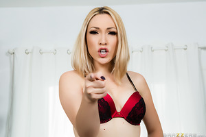 Convinced that her husband's been cheating on her, Lily Labeau has tied him up and plans on making him watch as she fucks her accomplice, Keiran Lee. Luscious Lily makes sure that her husband gets cuckolded by tying him up and taping his mouth shut so tha