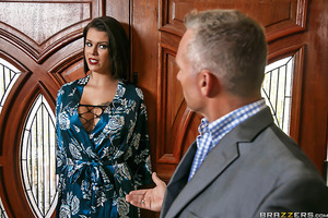 A nymphomaniac housewife has her lover show up at her front door. Since her husband is still home, they try to sneak around the house, even though Bill Bailey can't keep his hands off of Peta Jensen's delightful body and busty tits. While her husband's aw