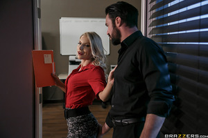 Ashley Fires may be the boss of the office, but her ass is the talk of the town! Her employees, however, are tired of having to deal with her uptight behavior. The rumors are swirling around the office that Ms. Fires desperately needs to get laid. What As