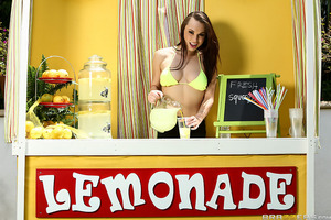 Summer's heating up so Aidra is selling ice cold ZZ Lemonade to the public. While her customers cool off she heats up with Jordi, who licks her her round ass while she works. Watch another sexy cutie suck and fuck on this hot episode of ZZ Lemonade!