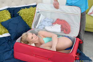 Sean Lawless has just returned from a vacation at his friend's house, only as he's unpacking his suitcase does he realize he has a stowaway! Horny teen Bailey Brooke has somehow gotten into his suitcase and is horny as fuck! Will Sean be able to resist Ba