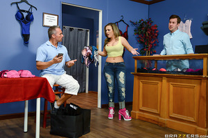 Carmen Valentina is desperate for some new lingerie ever since her husband has stopped fucking her. All Carmen wants is to look and feel sexy but unfortunately her husband just doesn't seem to be all that supportive when it comes to her tits. When Ms. Val