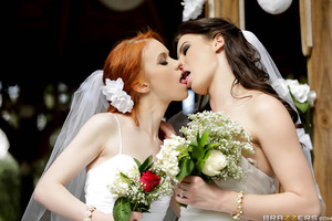 Kymberlee and Dolly are getting married! They make their love official with a tender, beautiful ceremony... then consummate the marriage with a rough, hardcore, dirty fuckfest!
