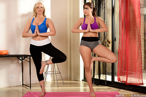 In this episode, Cassidy does a hot yoga session with hard-ass instructor Julia Ann. After a gruelling and sweaty session that includes some hardcore lesbian action, Julia calls in her special assistant Charles to help give Cassidy a proper fucking.