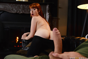 Gwen Stark is a dirty slut and she likes to flaunt what she's got; a hot body that's real naughty! But when her father catches her trying to sneak out of the house dressed like a skank, he forbids her to leave. Wanting a dick to suck and fuck, the nympho