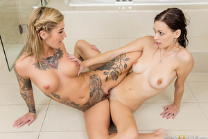 Madi Meadows and Kleio Valentien are college roommates. The difference between them? Kleio is a lesbian! Madi, however, isn't but likes for her pussy to be licked which is why she asks Kleio to help her out once in a while, but nothing more. No matter how