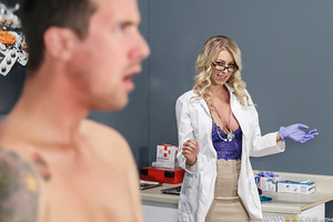 Jessy visits the doctor for a physical. The only catch? The doctor is his stepmom, and she is horny as hell.