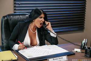 Romi Rain rides her staff hard. Some can't handle this bitchy boss, but Xander is more than willing to do everything she says. If she wants her pussy licked, he's there. If she wants her big tits worshipped, he's there. If she wants some cock, he's defini