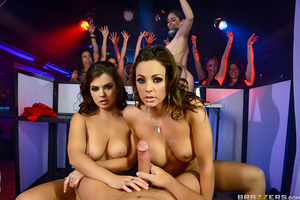 Abigail Mac and Keisha Grey can't wait to go see their favorite DJ (Jessy Jones) at the newest and hottest dance club in town. These girls are ready to shake their asses off or whatever it will take to get up on stage with Mr. Jones. The ladies are more t
