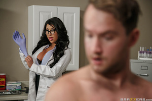 Dr. August Taylor is a very thorough practitioner of family medicine, so when she hears that her longtime patient has a new boyfriend (Van Wylde), she calls him in to her office to give him a full examination. Dr. Taylor wants to see what Van is made of,